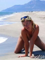 Young beach girl