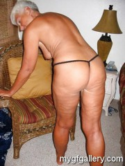 Nude blonde granny