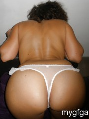 Young MILF in white panties