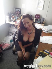 Office slut with big tits