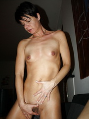 Short haired brunette milf