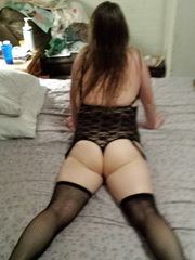 Married milf slut ass in lingerie