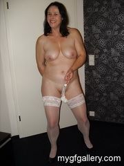 Milf Petra in white stockings