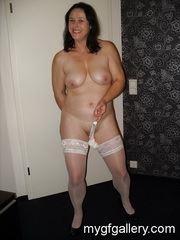 Milf Petra in white stockings