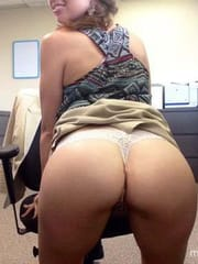 My horny co-worker flashing for me