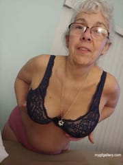 Sexy granny Debbie show her boobs and butt