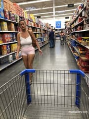 My wife in walmart
