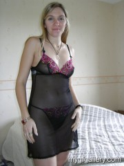 Horny blonde milf