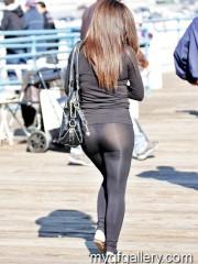 Girl in Black Leggings