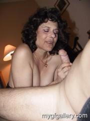 Sucking cock in living room