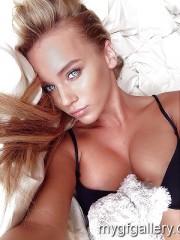 Sweet blonde girl Helene
