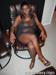Busty black housewife