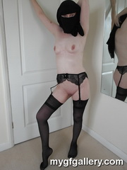 British wife in Niqab and stockings