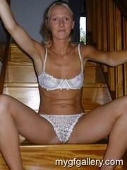 Slim blonde amateur wife