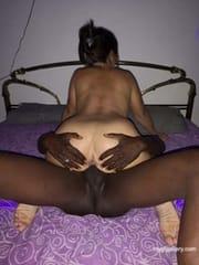 My wife Marisol with black friend