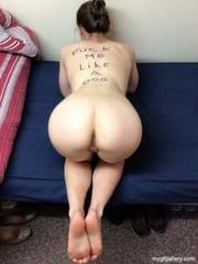 My BBC slut with body writing