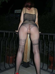 Wife in a hot bodystocking