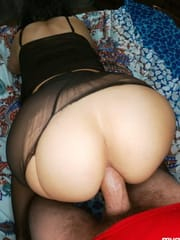 Perfect ass and pussy in anal sex