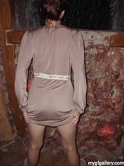 Hot girl in sauna