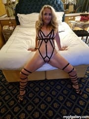 UK milf with blonde hair and nice body